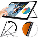 "auvisio Mobiler Full-HD-IPS-Touchscreen mit 39,6 cm / 15,6"", USB C, HDMI, Akku auvisio Mobile IPS-Touchscreen-Monitore"
