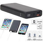 revolt Powerbank mit Quick Charge 3.0 und USB Typ C PD, 20.000 mAh, 3 A, 18 W revolt Powerbanks mit Quick Charge 3.0 & USB Typ C