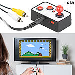 MGT Mobile Games Technology Retro-Videospiel-Konsole mit 240 16-Bit-Games und TV-Anschluss MGT Mobile Games Technology