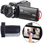 Somikon 4K-UHD-Camcorder mit Sony-Sensor, Touch-Display, HD mit 120 B./Sek. Somikon 4K-UHD-Camcorder mit Touch-Display