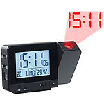 infactory Projektions-Funkwecker, Thermo-/Hygrometer, 2 Weckzeiten, USB-Ladeport infactory Projektions-Funkwecker, 2 Weckzeiten, Thermometer & Hygrometer