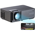 SceneLights LED-LCD-Beamer mit WLAN, Media-Player, 1280x800 Pixel (WXGA), 3.000 lm SceneLights