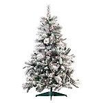 infactory tannenb ume k nstlicher weihnachtsbaum im schneedesign 120 cm 199 pvc spitzen. Black Bedroom Furniture Sets. Home Design Ideas