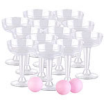 infactory Trinkspiel-Set Prosecco Pong mit 12 Sektgläsern (je 125 ml) & 3 Bällen infactory Prosecco-Pongs