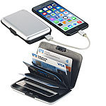 Xcase 2in1-RFID-Kartenetui & Powerbank, 5 Fächer, 2.500 mAh, 1 A, 5 Watt Xcase 2in1-RFID-Kartenetuis und Powerbanks