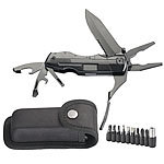 Semptec Urban Survival Technology 5in1-Multitool-Taschenmesser mit 9-teiligem Bit-Set und Gürteltasche Semptec Urban Survival Technology Multitool-Taschenmesser