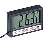 infactory Digitales Aquarium-Thermometer mit Uhrzeit und LCD-Display, 1 m Kabel infactory Aquariums-Thermometer