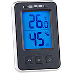 PEARL Digitales Thermometer/Hygrometer mit Komfortanzeige und LCD-Display PEARL Digitale Thermometer/Hygrometer
