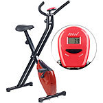 PEARL sports Klappbarer Heimtrainer mit Trainings-Computer, 1,6 kg Schwungmasse PEARL sports