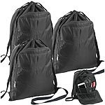 Semptec Urban Survival Technology 3er-Set 2in1-Turnbeutel-Rucksäcke, aufklappbares Organizer-Fach, 20 l Semptec Urban Survival Technology