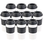 PEARL 10er-Set Coffee-to-go-Becher, Deckel, 475 ml, doppelwandig, BPA-frei PEARL Doppelwandige Coffee-to-go-Becher