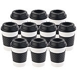 PEARL 10er-Set Coffee-to-go-Becher, Deckel, 350 ml, doppelwandig, BPA-frei PEARL Doppelwandige Coffee-to-go-Becher