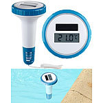 FreeTec Digitales Solar-Teich-& Poolthermometer, LCD-Anzeige, wasserdicht IPX7 FreeTec Solar-Poolthermometer