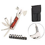 Semptec Urban Survival Technology 26in1-Multitool aus Edelstahl mit Holzgriff und Schraubendreher-Set Semptec Urban Survival Technology Multitools mit Schraubendreher-Sets