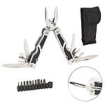 Semptec Urban Survival Technology 27in1-Multitool aus Edelstahl mit Schraubendreher-Set und Gürteltasche Semptec Urban Survival Technology