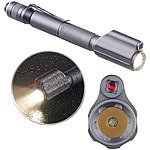 KryoLights 2in1-Profi-Pen-Light, LED-Taschenlampe & Laser-Pointer, 110 lm, 3 W KryoLights 2in1-Taschenlampe und Laserpointer