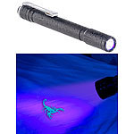 KryoLights Profi-Pen-Light mit UV-LED-Taschenlampe, 395 nm, Aluminium, IPX4 KryoLights