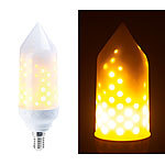 Luminea 2er-Pack LED-Flammen-Lampe mit realistischem Flackern Luminea LED-Flammen-Lampen (E14)