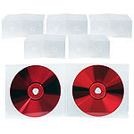 PEARL Doppel CD Slim Soft Boxen im 50er-Set, 7 mm, transparent PEARL CD-Jewel-Case