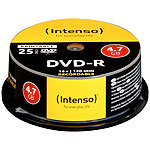 Intenso DVD-R 4.7GB 16x printable, 25er-Spindel Intenso DVD-Rohlinge