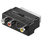 auvisio TV-Adapterstecker AV-Cinch & S-Video auf SCART, umschaltbar auvisio SCART auf AV-Cinch-Adapter