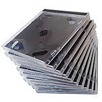 PEARL CD Jewel Boxen im 50er-Set, schwarzes Tray PEARL CD-Jewel-Case