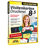 Markt + Technik Visitenkarten-Druckerei 8.5 Gold Edition Markt + Technik Druckvorlagen & -Softwares (PC-Softwares)