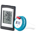 infactory Funk-Pool-Thermometer PT-300 mit großer Display-Einheit infactory Funk-Poolthermometer