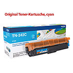 Brother Original Toner-Kartusche TN-242C, cyan Brother Original Toner-Cartridges für Brother-Laserdrucker