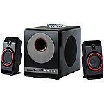 auvisio 2.1-Premium-Multimedia-Soundsystem mit Subwoofer, MP3-Player, 40 Watt auvisio 2.1-Lautsprecher-Systeme mit Subwoofer