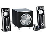 auvisio Aktives 2.1-Multimedia-Soundsystem mit Subwoofer MSX-220, 32 Watt auvisio