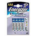 Energizer Ultimate Lithium-Batterie AAA Micro 1,5 Volt im 4er-Pack Energizer Lithium-Batterien Micro (AAA)