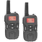 simvalley communications Walkie-Talkie-Set m. VOX, 5 km Reichweite, Micro-USB-Ladeport, 2er-Set simvalley communications Walkie-Talkies