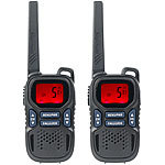 simvalley communications 2er-Set Profi-Walkie-Talkies mit VOX, 10 km, USB, extragroßes Display simvalley communications Walkie-Talkies