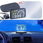 Lescars Head-up-Display HUD-55C für OBD2-Anschluss Lescars Head-up-Displays (HUD)