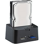 "Xystec USB-HDD-Station FD-400Twin für 2,5""-/3,5""-SATA, mit Card-Reader Xystec Festplatten Dockingstations"