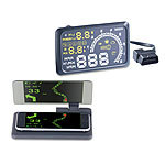 Lescars Head-up-Display HUD-55C für OBD2-Anschluss mit Armaturenbrett-Ablage Lescars Head-up-Displays (HUD)