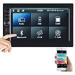 Creasono 2-DIN-MP3-Autoradio mit Touchdisplay, Bluetooth, Freisprecher, 4x 45 W Creasono