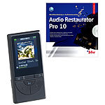 auvisio 2in1-Media-Player & Audio-Rekorder mit Audio-Restaurations-Software auvisio MP3- & Video-Player mit Bluetooth und Pedometer