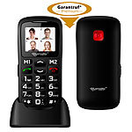 simvalley MOBILE Komfort-Handy mit Bluetooth und Garantruf Premium, Fotokontakte simvalley MOBILE Notruf-Handys mit Bluetooth und MP3-Player