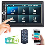 Creasono 2-DIN-DAB+/FM-Autoradio, Touchdisplay, Bluetooth, Freisprecher, 4x45 W Creasono 2-DIN-DAB+/FM-Autoradios mit Bluetooth und Video-Anschluss