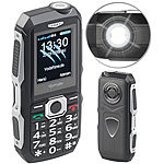 simvalley MOBILE Stoßfestes Outdoor-Handy, Dual-SIM-Funktion, Bluetooth, FM-Radio, IP67 simvalley MOBILE
