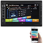 Creasono 2-DIN-MP3-Autoradio mit Touchdisplay, Bluetooth, Freisprecher, 4x 45 W Creasono 2-DIN-MP3-Autoradios mit Bluetooth und Video-Anschluss