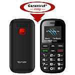 simvalley MOBILE Dual-SIM-Komfort-Handy mit Garantruf Easy, Bluetooth und Taschenlampe simvalley MOBILE