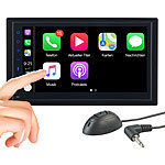 Creasono 2-DIN-Autoradio mit Freisprechfunktion, Apple CarPlay, 17,1-cm-Display Creasono 2-DIN-MP3-Autoradios, kompatibel mit Apple CarPlay