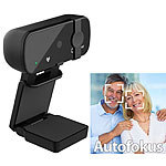 Somikon Real 4k USB Webcam mit Privacy Mode (Linsenabdeckung) & USB-C Adapter Somikon Webcams