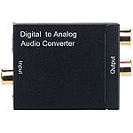 auvisio Audio-Konverter digital zu analog, mit TOSLINK, Koaxial & Stereo-Cinch auvisio Audio-Konverter digital zu analog