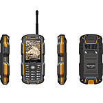 simvalley MOBILE Dual-SIM-Outdoor-Handy, Walkie-Talkie XT-980 2er Set simvalley MOBILE Dual-SIM Outdoor-Handys mit Walkie-Talkie-Funktion