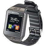 "simvalley MOBILE 1,5""-Handy-Uhr & Smartwatch mit Bluetooth 3.0 (Versandrückläufer) simvalley MOBILE Handy-Smartwatches mit Bluetooth für Android"
