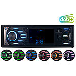 Creasono MP3-Autoradio mit DAB+, Bluetooth & Freisprech-Funktion, 4x 45 Watt Creasono DAB+ Autoradios mit Bluetooth & MP3